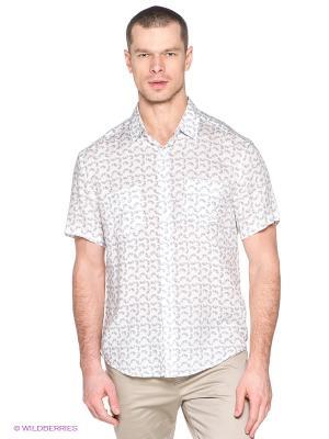 Рубашка Finn Flare. Цвет: белый, темно-серый