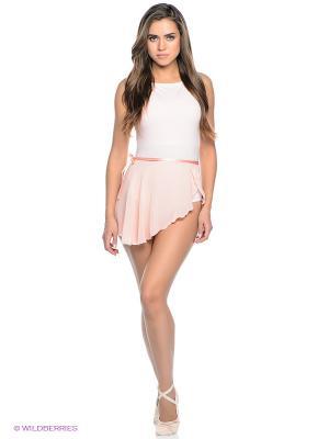 Гимнастическая юбка Freddy. Цвет: бледно-розовый