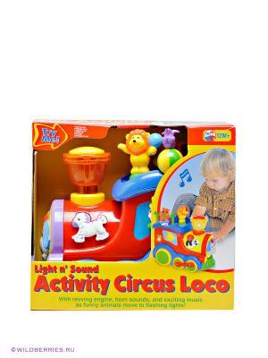 Развивающая игрушка Цирковой поезд Kiddieland. Цвет: красный, желтый, синий
