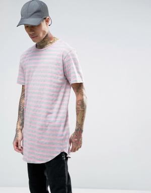 Cayler & Sons Длинная футболка в полоску. Цвет: розовый