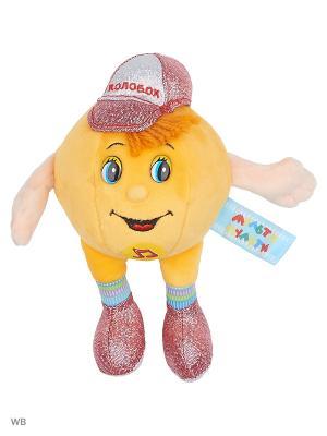 Мягкая игрушка Мульти-пульти Колобок 10см, озвученный.. Цвет: желтый, коричневый