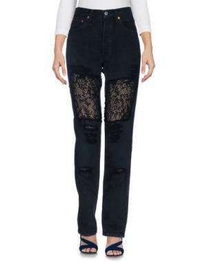 Джинсовые брюки FORTE COUTURE. Цвет: темно-синий