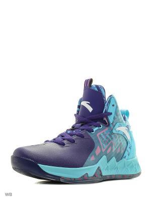 Кроссовки ANTA. Цвет: голубой, фиолетовый, розовый