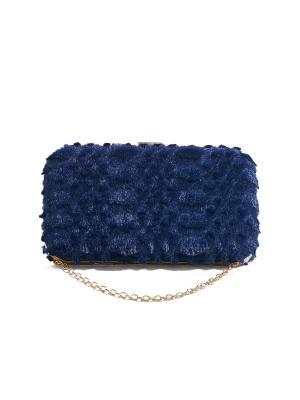 Клатч футляр Марго Тененбаум со съемной цепочкой Nothing but Love. Цвет: синий
