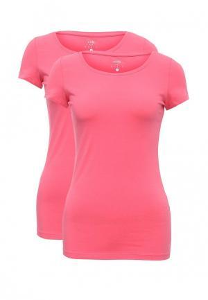 Комплект футболок 2 шт. oodji. Цвет: розовый