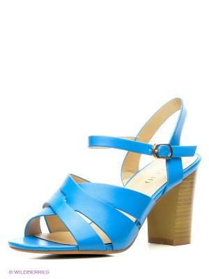 Босоножки INARIO. Цвет: голубой