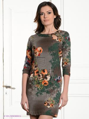 Платье MELANY. Цвет: зеленый
