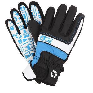 Перчатки сноубордические  Gloom Black Picture Organic. Цвет: черный,белый,синий