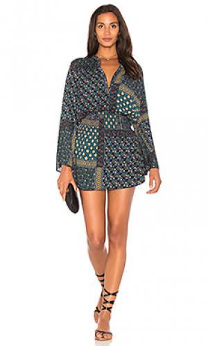 Платье с юбкой first light Stillwater. Цвет: синий