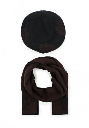 Комплект берет и шарф Fete. Цвет: черный