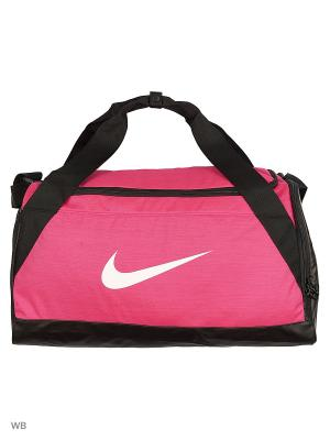 Сумка NK BRSLA S DUFF Nike. Цвет: розовый, черный