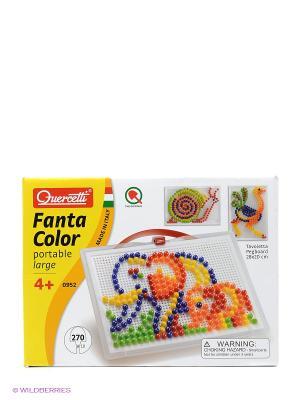 Мозайка Фантастические цвета Quercetti. Цвет: красный, желтый, белый, черный, синий, зеленый