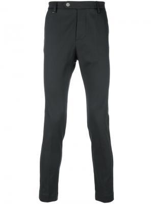 Укороченные брюки  кроя слим Entre Amis. Цвет: серый