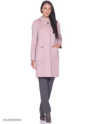 Пальто VEALE. Цвет: розовый
