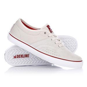 Кеды кроссовки низкие  Bixby Clay/White Dekline. Цвет: серый