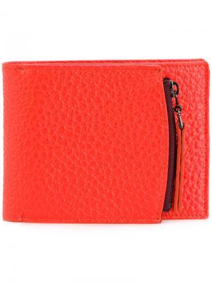 Складной бумажник Maison Margiela. Цвет: жёлтый и оранжевый