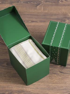 Подарочный набор Фантазия №8 (фартук-1шт; сумка-1шт;салфетка-1шт;упаковка-1шт) DEEPOT. Цвет: зеленый