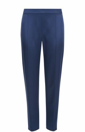 Укороченные брюки прямого кроя со стрелками St. John. Цвет: синий