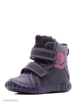 Ботинки ECCO. Цвет: серый, сиреневый