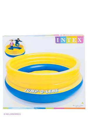 Надувной игровой центр Intex. Цвет: желтый, синий