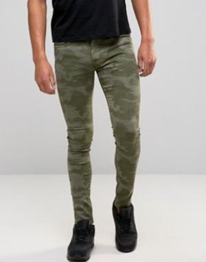 Brooklyn Supply Co. Камуфляжные джинсы скинни Co. Цвет: зеленый
