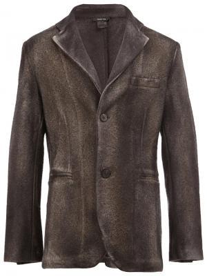 Пиджак на пуговицах Avant Toi. Цвет: серый