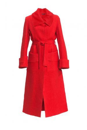 Пальто из шерсти и хлопка с поясом 153067 Msw Atelier