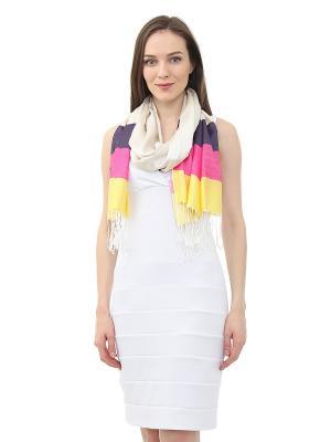 Платок Infiniti. Цвет: бежевый, желтый, серый, фиолетовый