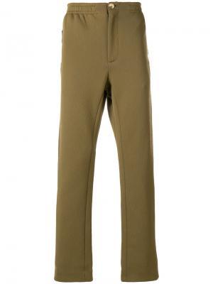 Спортивные брюки прямого кроя Qasimi. Цвет: зелёный