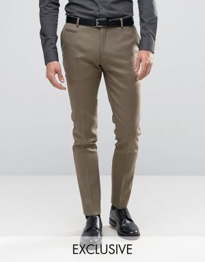 Number Eight Savile Row Строгие зауженные брюки. Цвет: зеленый
