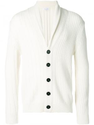 Shawl collar cardigan Dondup. Цвет: белый