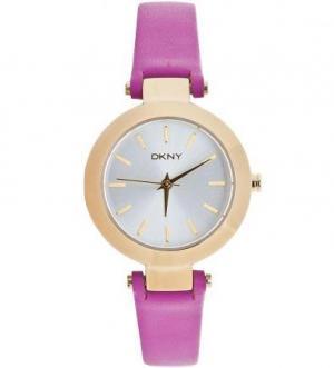 Часы с тонким сиреневым ремешком DKNY
