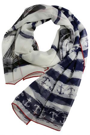 Шелковый шарф SHALBE. Цвет: мультицвет