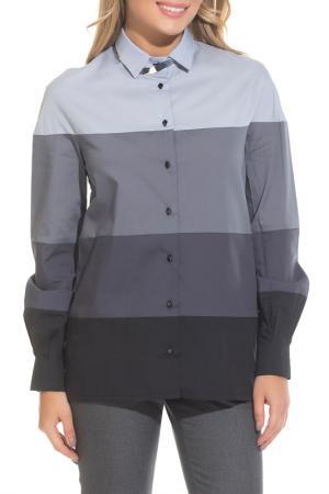 Рубашка Gloss. Цвет: черный, серый