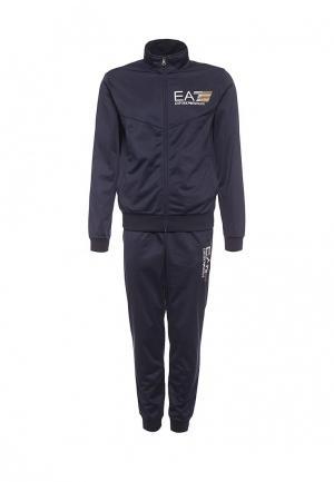 Костюм спортивный EA7. Цвет: синий