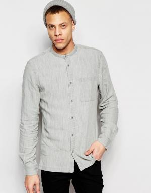 Waven Серая джинсовая рубашка классического кроя с воротником на пуговице Wa. Цвет: серый