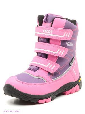 Мембранные полусапожки Ascot. Цвет: розовый, фиолетовый