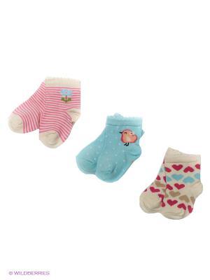 Носки PERA MAYA. Цвет: голубой, бежевый, розовый