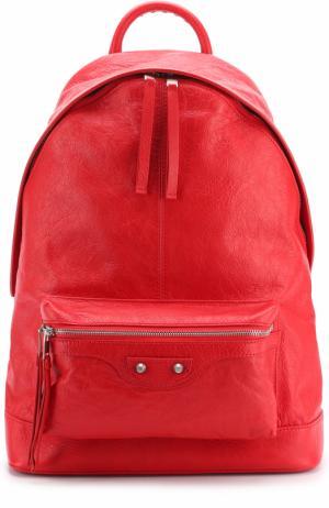 Кожаный рюкзак Classic Balenciaga. Цвет: красный