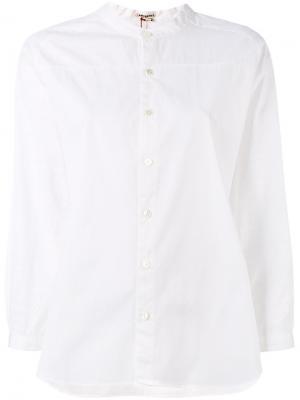 Рубашка без воротника Blue Japan. Цвет: белый