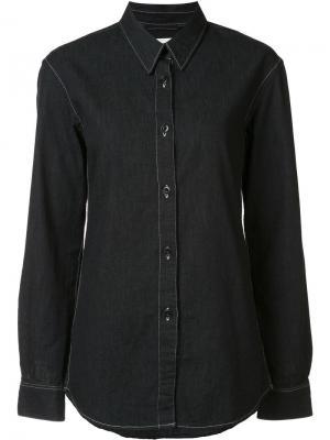 Рубашка с заостренным воротником Lemaire. Цвет: чёрный