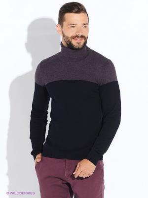 Свитер Oodji. Цвет: фиолетовый, черный