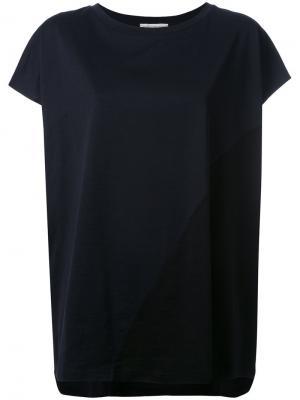 Contrast loose fit T-shirt Stefano Mortari. Цвет: чёрный