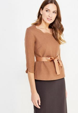 Блуза Pallari. Цвет: коричневый