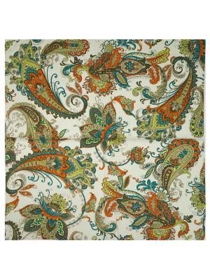 Платок Zalta. Цвет: белый, голубой, желтый, оранжевый