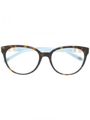 Очки с черепаховым узором Tiffany & Co.. Цвет: коричневый