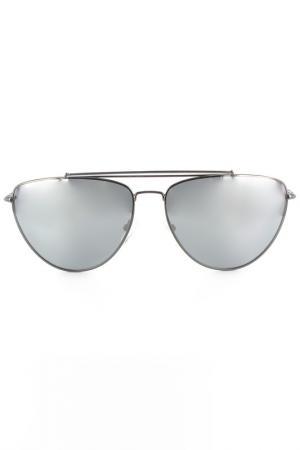 Очки солнцезащитные DVF. Цвет: серый