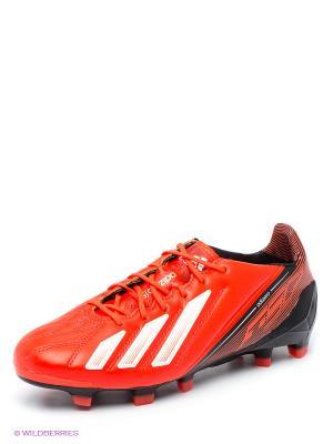 Бутсы adizero F50 Adidas. Цвет: коралловый, черный
