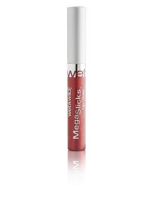 Блеск для губ  megaslicks lip gloss, Тон E577A Wet n Wild. Цвет: терракотовый