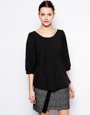 Блузка для офиса  Juliana Hershey Pascual. Цвет: черный